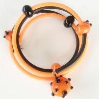 Armband med lampworkpärlor, LB008